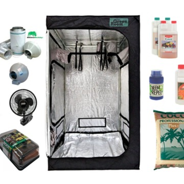 Complete Wilma Large 4 pot (25L) Valoya 120 series LED Canna Coco Kit  1