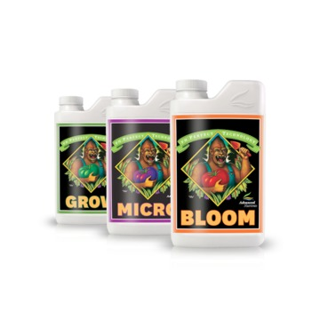 Advanced Nutrients 3 Part Grow, Micro and Bloom Grow 4L 1